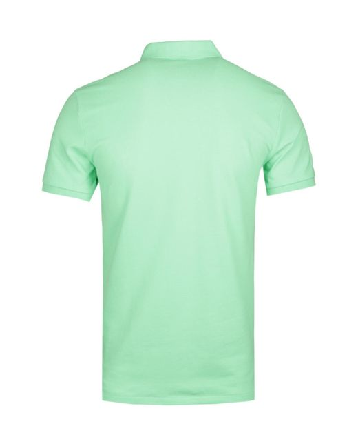 dbf3d542a7f ... Polo Ralph Lauren - Slim Fit Lime Green Polo Shirt for Men - Lyst ...