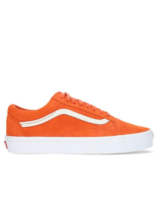 a4b87ae32f0ac5 Vans - Orange Soft Suede Old Skool for Men - Lyst ...