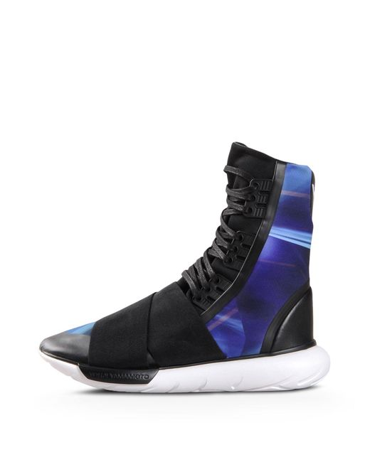 Y-3 | Black Qasa Boot for Men | Lyst