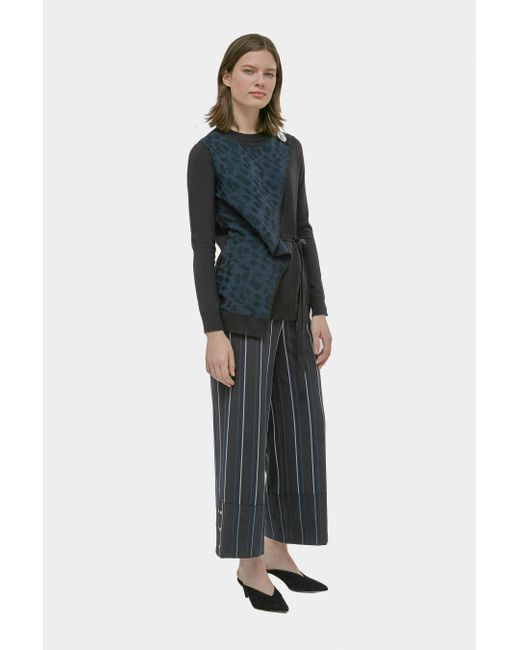 Yigal Azrouël - Multicolor Silk Cashmere Wrap Sweater - Lyst