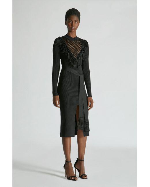 Yigal Azrouël - Black Macrame Knit Dress - Lyst