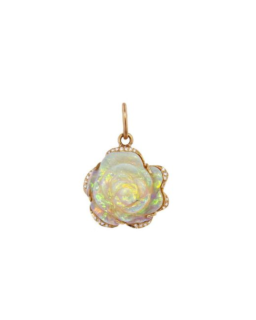Irene Neuwirth - Metallic One-of-a-kind Carved Rose Opal Charm - Lyst