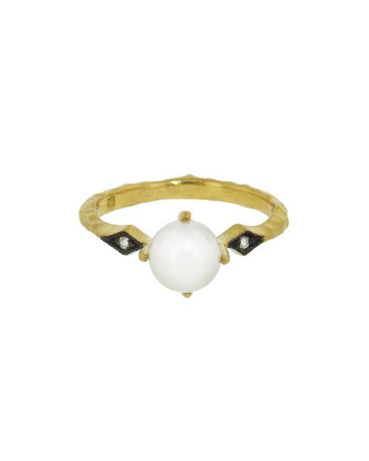Cathy Waterman - Metallic Pearl And Diamond Ring - Lyst