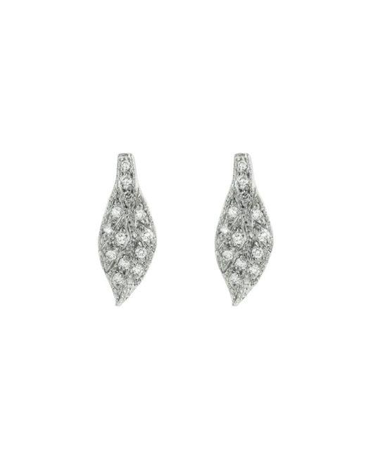 Cathy Waterman - Multicolor Diamond Leaf Stud Earrings - Lyst