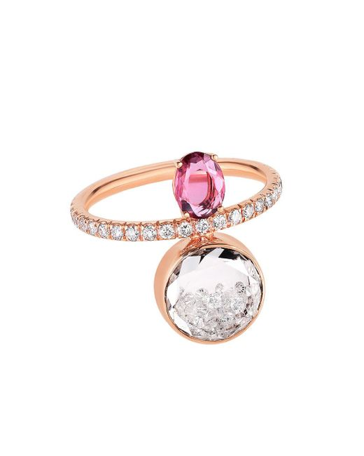 Moritz Glik - Pink Sapphire And Loose Diamond Sphere Ring - Lyst