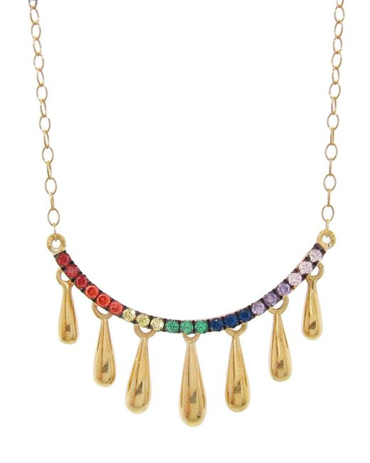 Ileana Makri - Multicolor Smiling Rain Pendant Necklace - Lyst