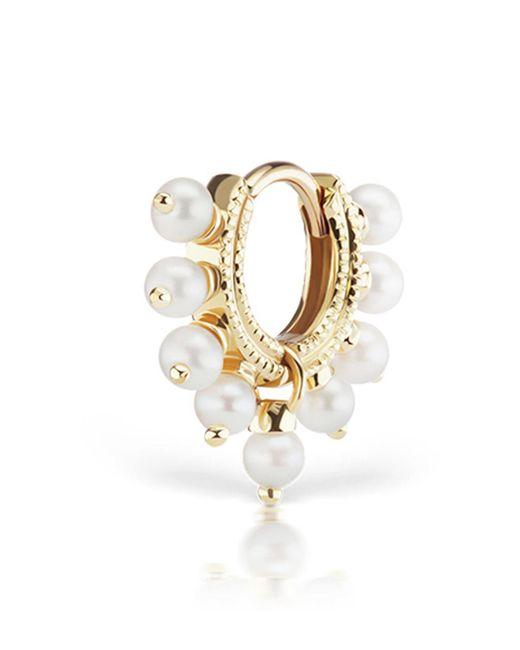 Maria Tash - Metallic Pearl Coronet Ring Single Earring - Lyst