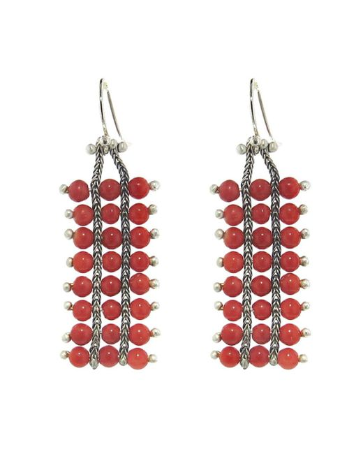Ten Thousand Things - Multicolor Extra Long Studded Coral Square Chain Earrings - Lyst