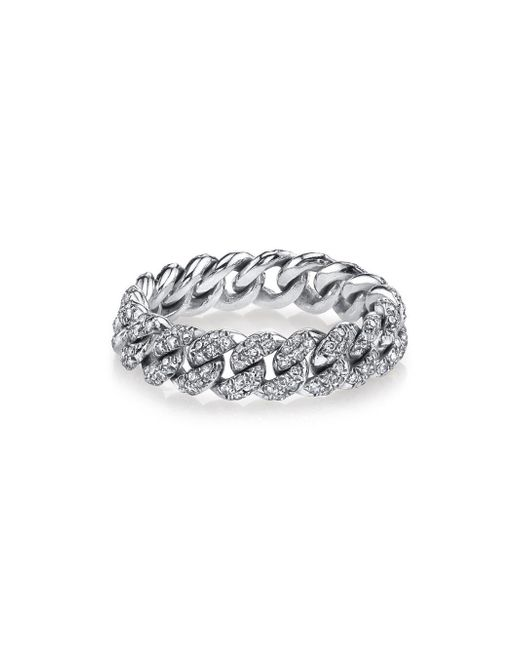SHAY - Multicolor Pavé Diamond Link Ring - Lyst