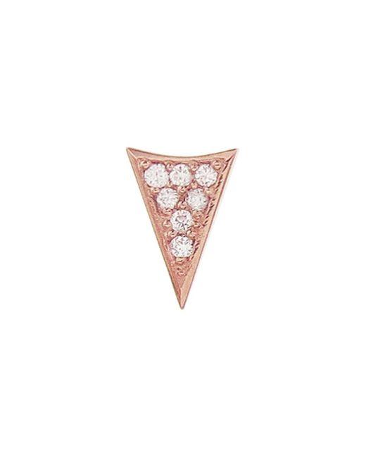 Sydney Evan - Multicolor Single Diamond Triangle Stud Earring - Lyst