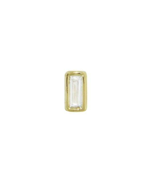 Sydney Evan - Multicolor Baguette Diamond Single Stud Earring - Lyst