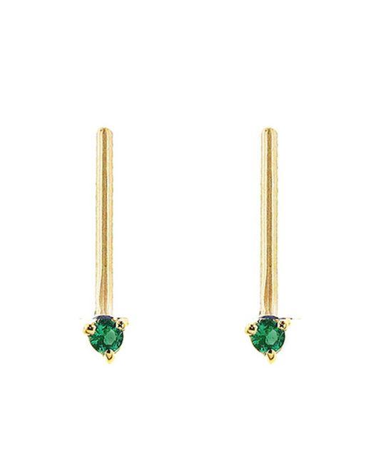 Wwake - Multicolor One-step Emerald Bar Earrings - Lyst
