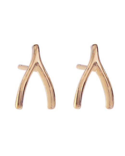 Jennifer Meyer - Metallic Wishbone Stud Earrings - Lyst