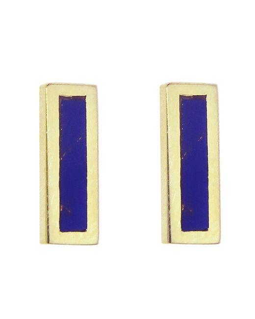 Jennifer Meyer - Multicolor Lapis Inlay Bar Stud Earrings - Lyst