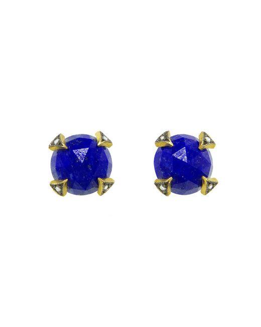 Cathy Waterman - Blue Rose Cut Lapis Thorn Stud Earrings - Lyst