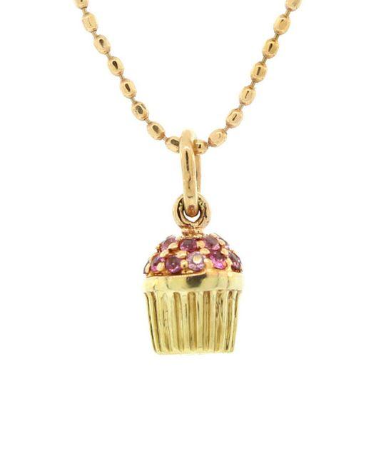 Sydney Evan - Multicolor Tiny Pink Sapphire Cupcake Necklace - Lyst
