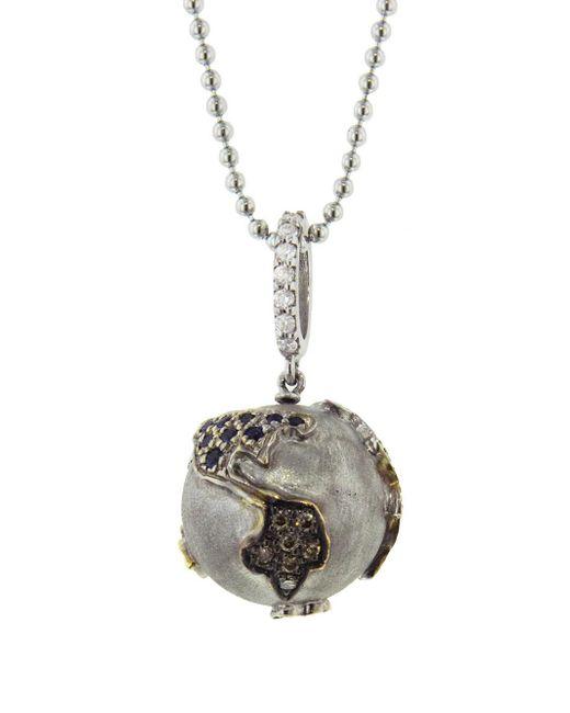 Sharon Khazzam - Metallic Sapphire World Pendant Necklace - Lyst