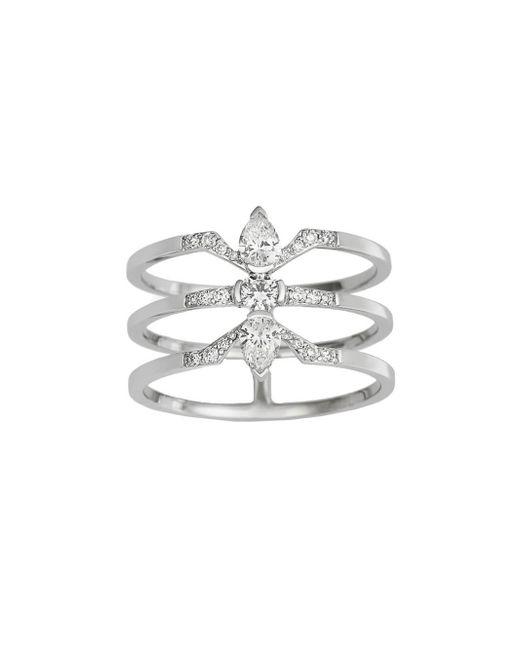 Raphaele Canot - Multicolor Three Diamond Deco Ring - Lyst