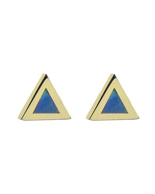 Jennifer Meyer - Multicolor Opal Inlay Triangle Stud Earrings - Lyst