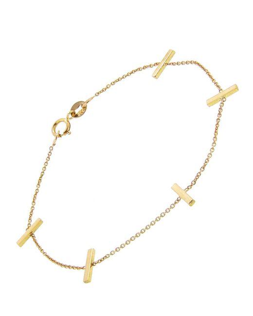Jennifer Meyer - Metallic Cross Bar Chain Bracelet - Lyst