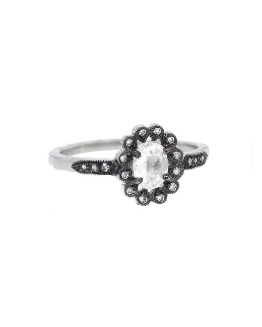Cathy Waterman - Multicolor Oval Diamond Flower Ring - Lyst