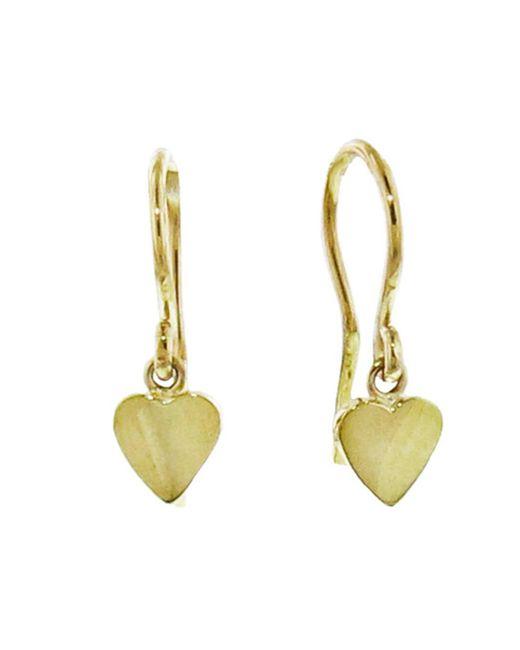 Jennifer Meyer - Metallic Mini Heart Drop Earrings - Lyst