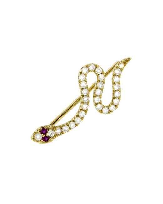 Sydney Evan - Multicolor Diamond Snake Left Ear Jacket Stud Earring - Lyst