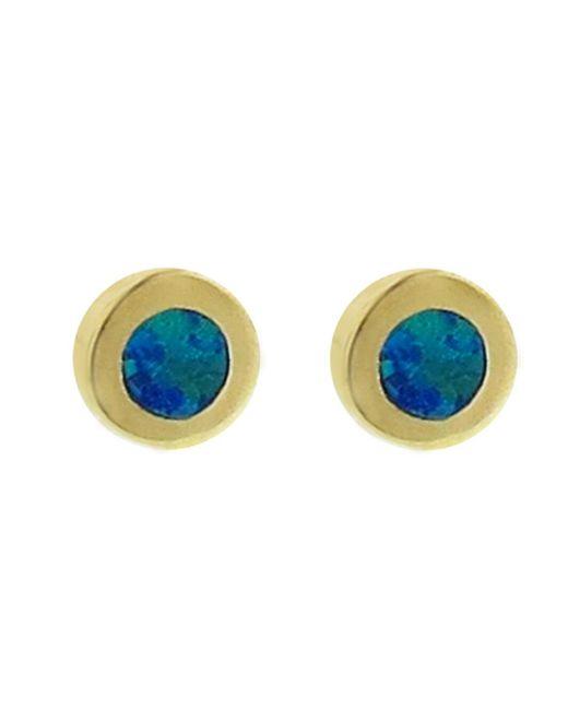 Jennifer Meyer - Multicolor Opal Inlay Circle Stud Earrings - Lyst
