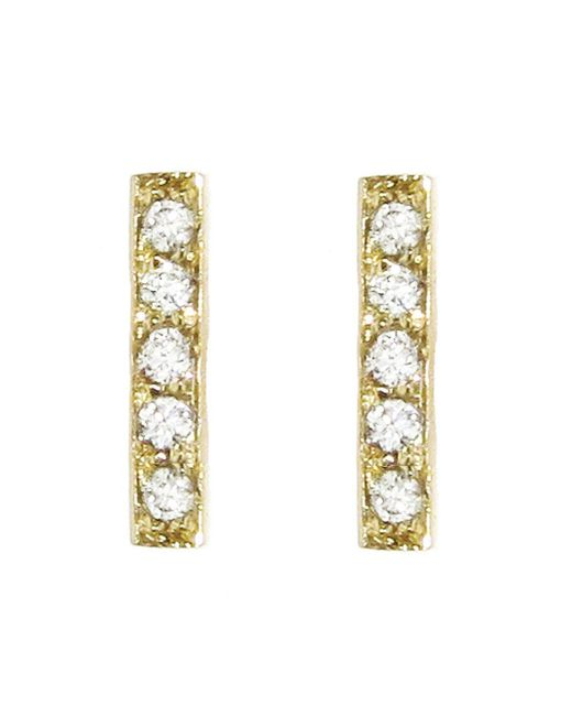 Jennifer Meyer - Metallic Diamond Bar Stud Earrings - Lyst