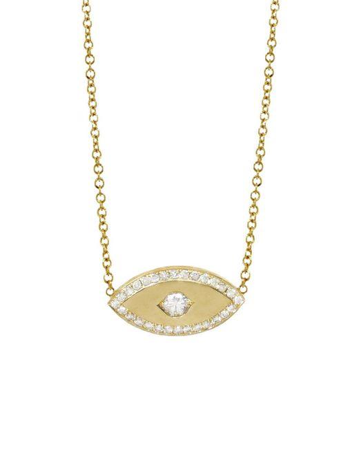 Jennifer Meyer - Multicolor Diamond Evil Eye Necklace - Lyst
