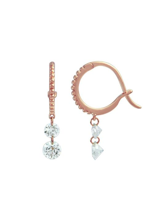 Raphaele Canot - Multicolor Set Free Mini Hoop Earrings Double Diamond - Lyst