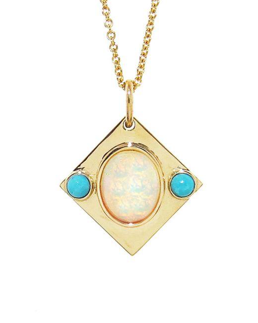 Larisa Laivins - Metallic Opal Eye Pendant Necklace - Lyst
