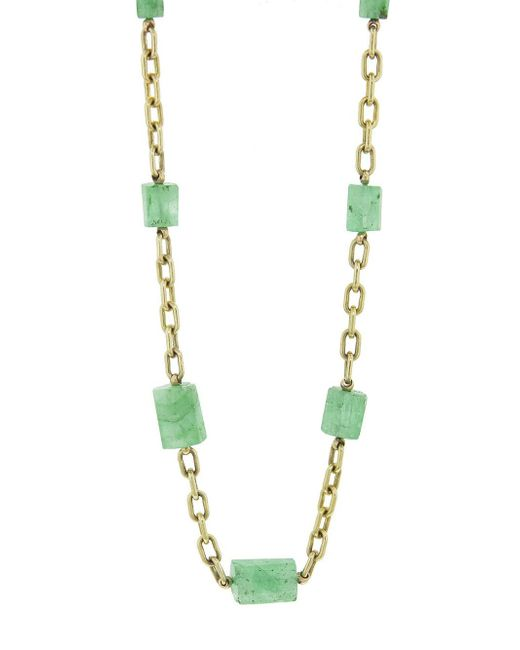 Ten Thousand Things - Metallic One-of-a-kind Emerald Bead Chain Necklace - Lyst