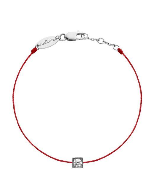 RedLine - Metallic Cube Femme Diamond Red String Bracelet - Lyst