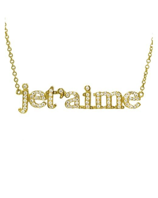 Jennifer Meyer - Metallic Je T'aime Diamond Necklace - Lyst