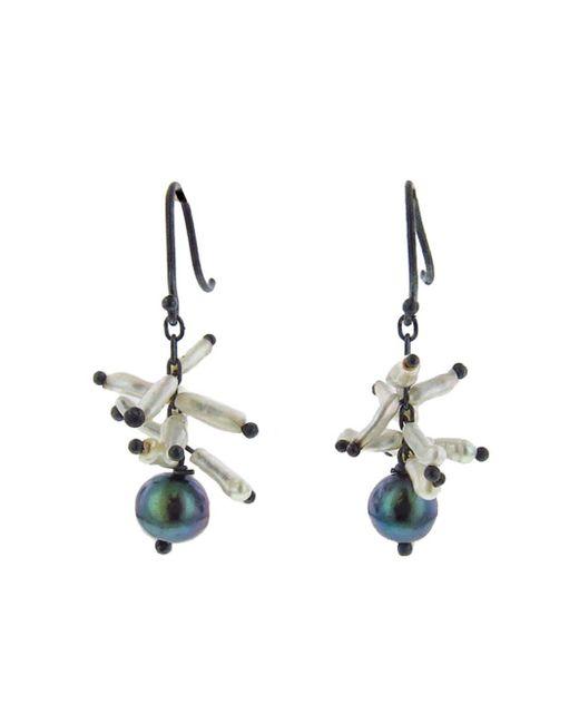 Ten Thousand Things - Multicolor Black Pearl With Keshi Spike Cluster Earrings - Lyst