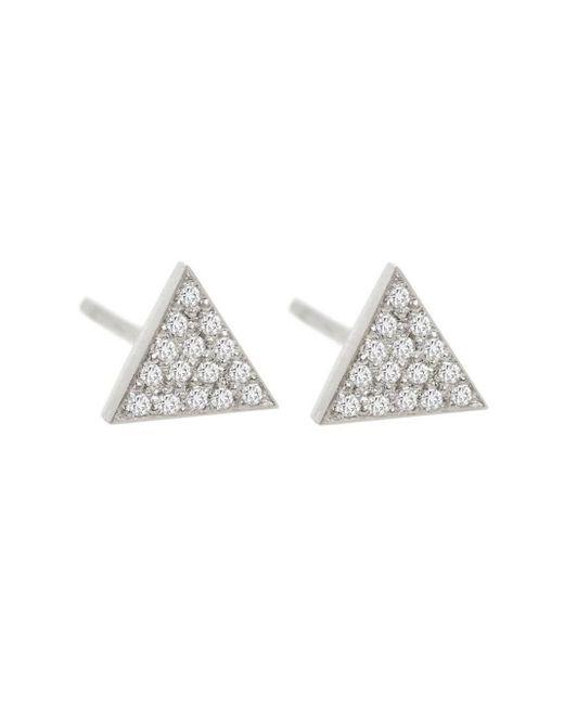 Jennifer Meyer - Metallic Mini Diamond Triangle Stud Earrings - Lyst