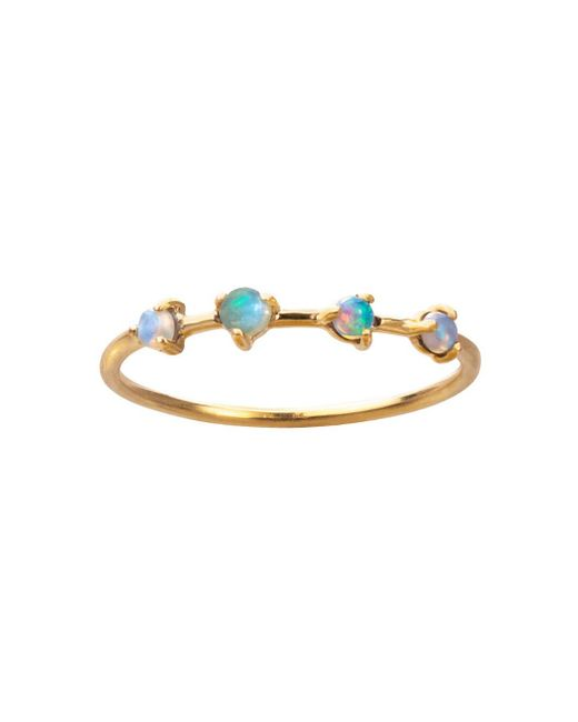Wwake - Multicolor Sloped Arc Opal Ring - Lyst