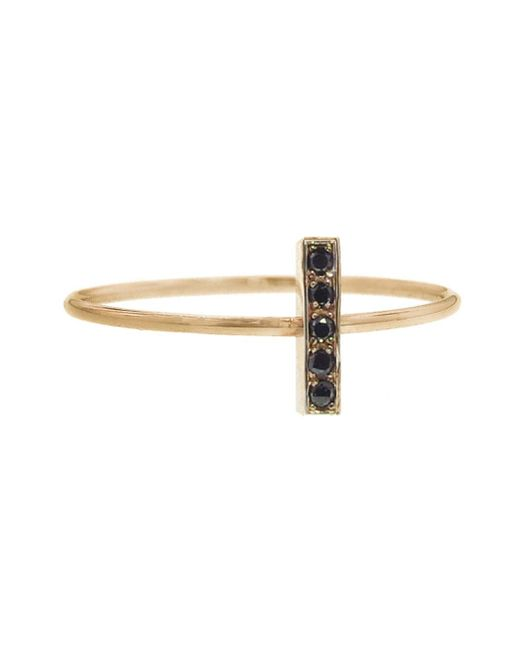 Jennifer Meyer - Metallic Black Diamond Bar Ring - Lyst