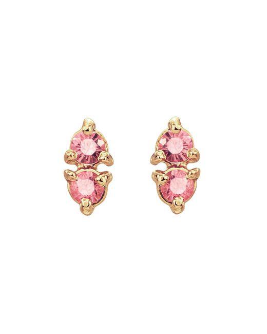 Wwake - Multicolor Two-step Blush Stud Earrings - Lyst