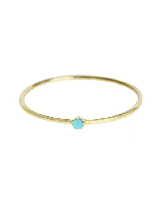 Jennifer Meyer - Metallic Thin Turquoise Stacking Ring - Lyst