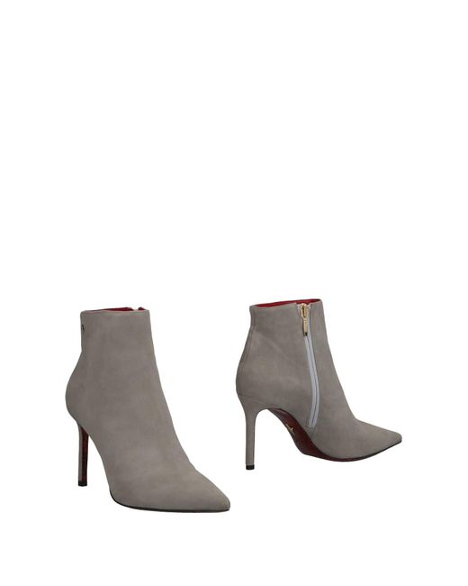 Cesare Paciotti - Gray Ankle Boots - Lyst