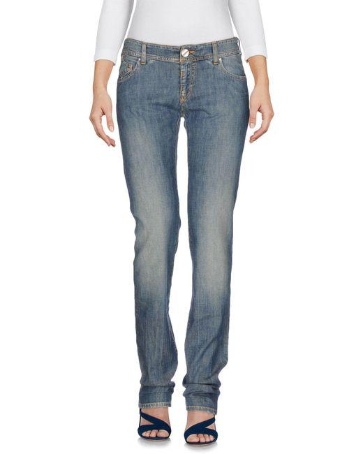 Armani Jeans - Blue Denim Trousers - Lyst