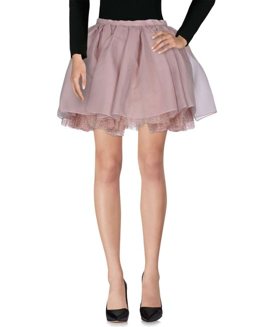 Olympia Le-Tan - Pink Knee Length Skirt - Lyst