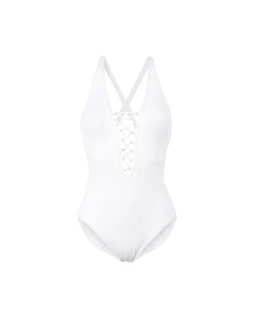 MICHAEL Michael Kors - White One-piece Swimsuit - Lyst
