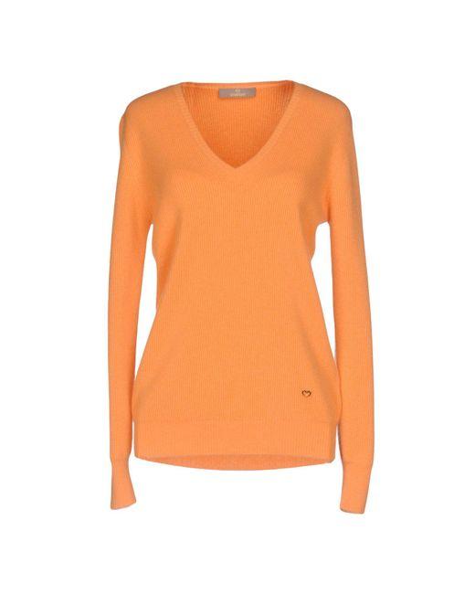Cruciani - Orange Jumper - Lyst