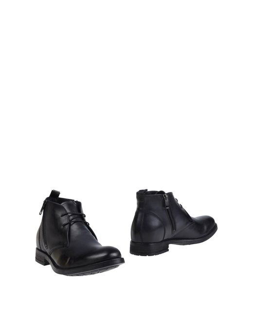 DIESEL - Gray Ankle Boots for Men - Lyst