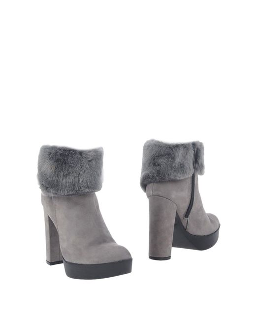 Divine Follie - Gray Ankle Boots - Lyst