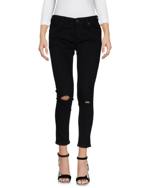 Denim & Supply Ralph Lauren - Black Denim Capris - Lyst