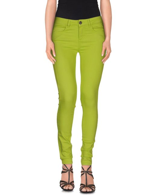Maison Espin - Green Denim Pants - Lyst